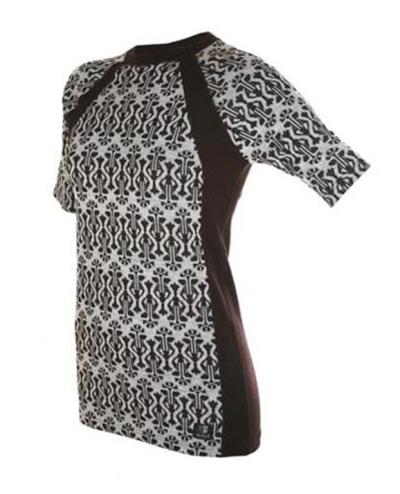 Tshirt, Ullsilke, mönstrad