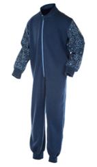 Jumpsuit, Ullfrotte, blå